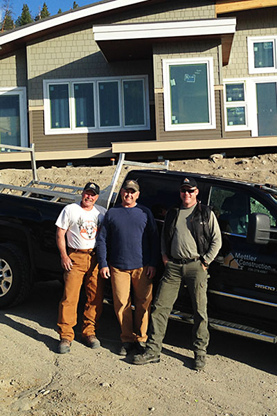 Aaron Clarke, Rick Mettler and John Porada from Mettler Construction Team in Merritt, BC