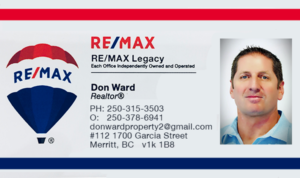 RE?MAX Realtor Don Ward Merritt BC