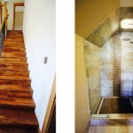 Completed shower and staircase in the Quilchena on the Lake project by Mettler Construction in Merritt