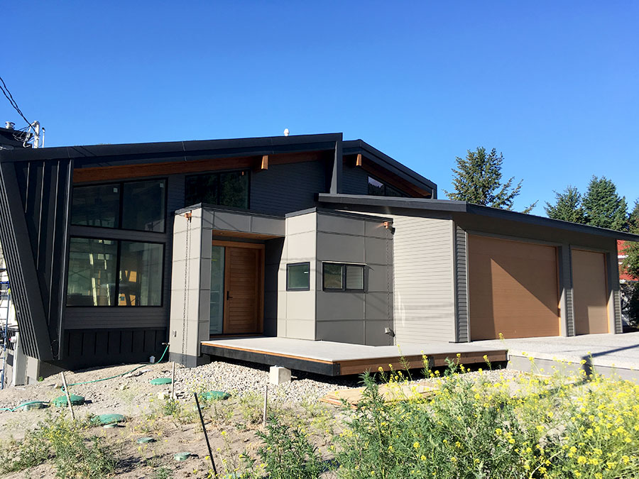 Mettler Construction company in Merritt BC - street view of Harmon Estates project one