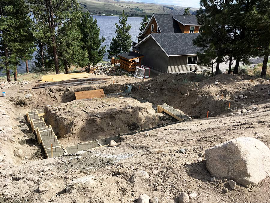 Footings poured at the Nicola Lakeshore project by Mettler Construction Company in Merritt, BC