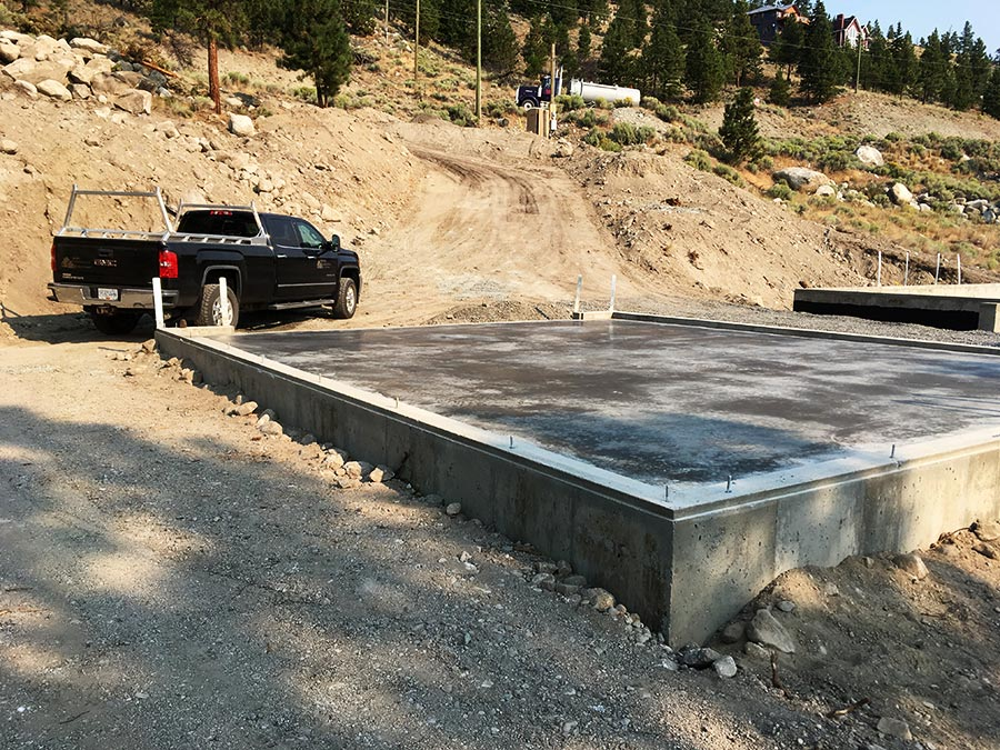 Garage floor poured at Nicola Lakeshore project by Mettler Construction in Merritt BC