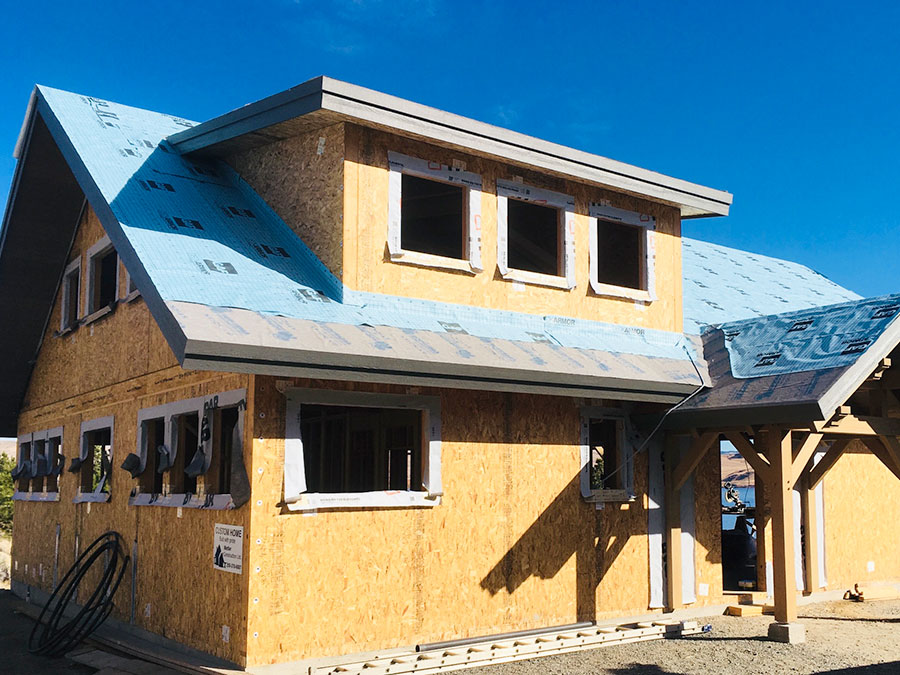 Nicola Lakeshore project by Mettler Construction in Merritt BC weather proofing