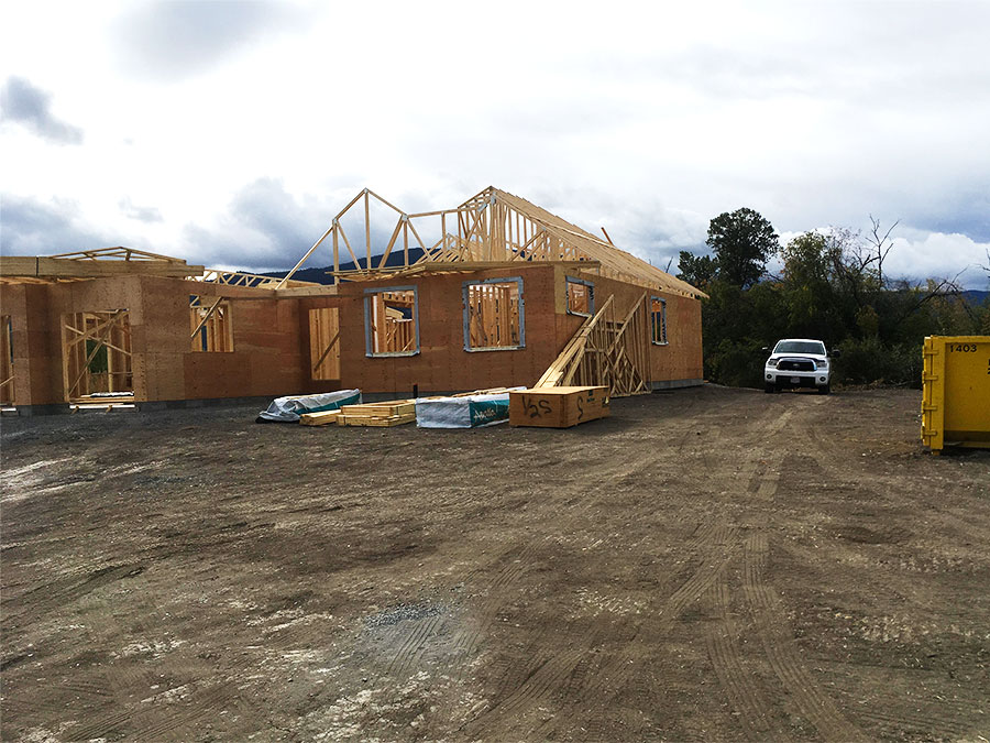 Burgess Ave project - new home construction by Mettler Construction in Merritt BC