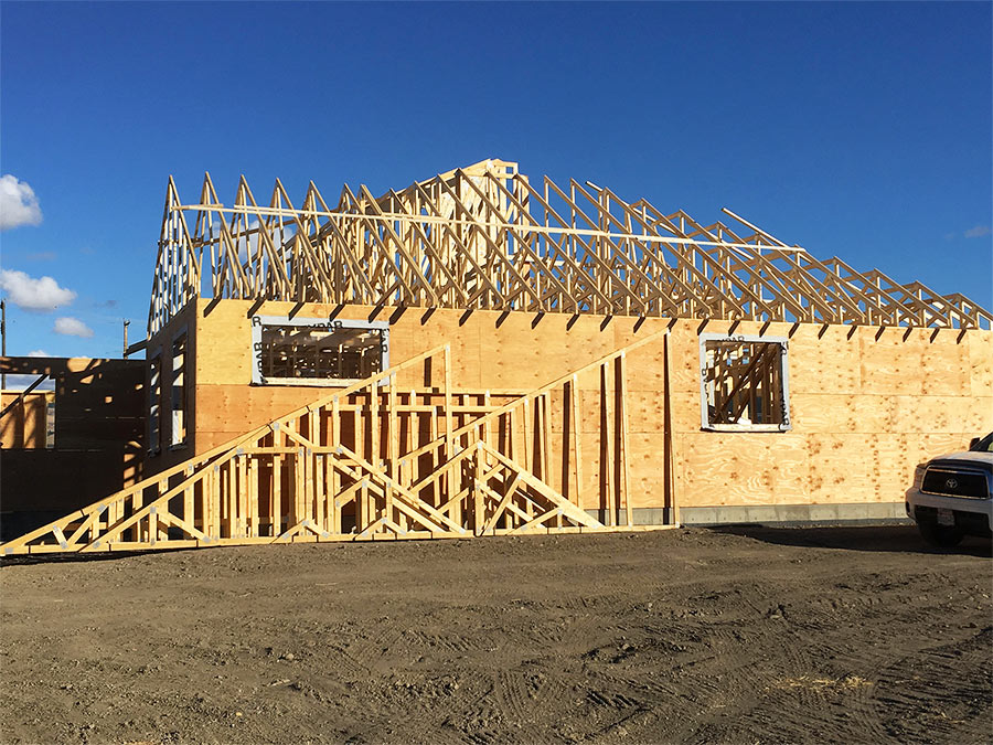 Burgess Avenue project by Mettler Construction - roof trusses