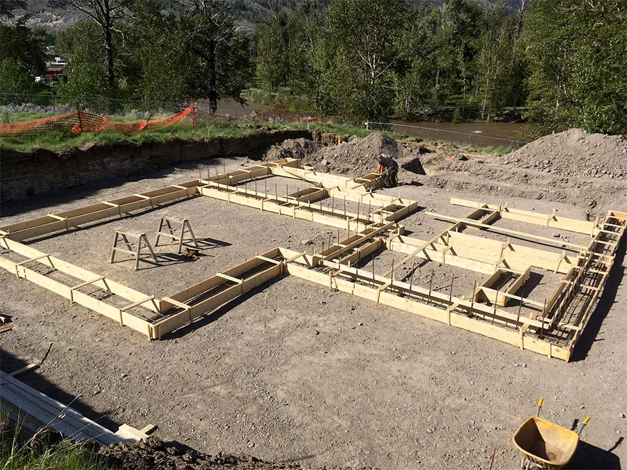 foundation going in at Fir Road project for Mettler Construction in Merrit BC
