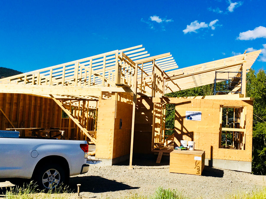 Side view of Fir road project by Mettler Construction in Merritt BC