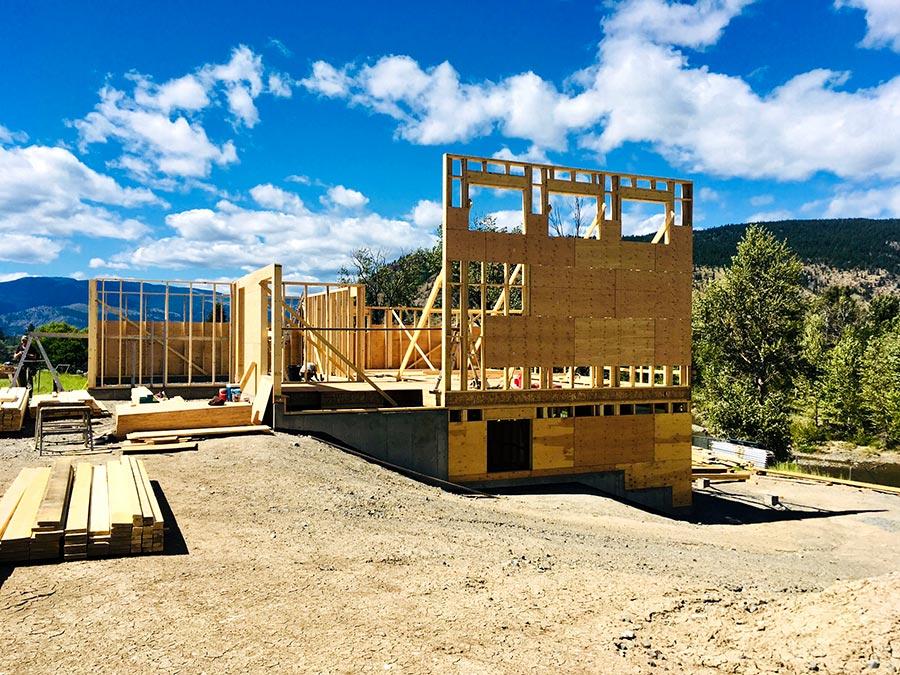 Fir Road project framing by Mettler Construction in Merritt BC