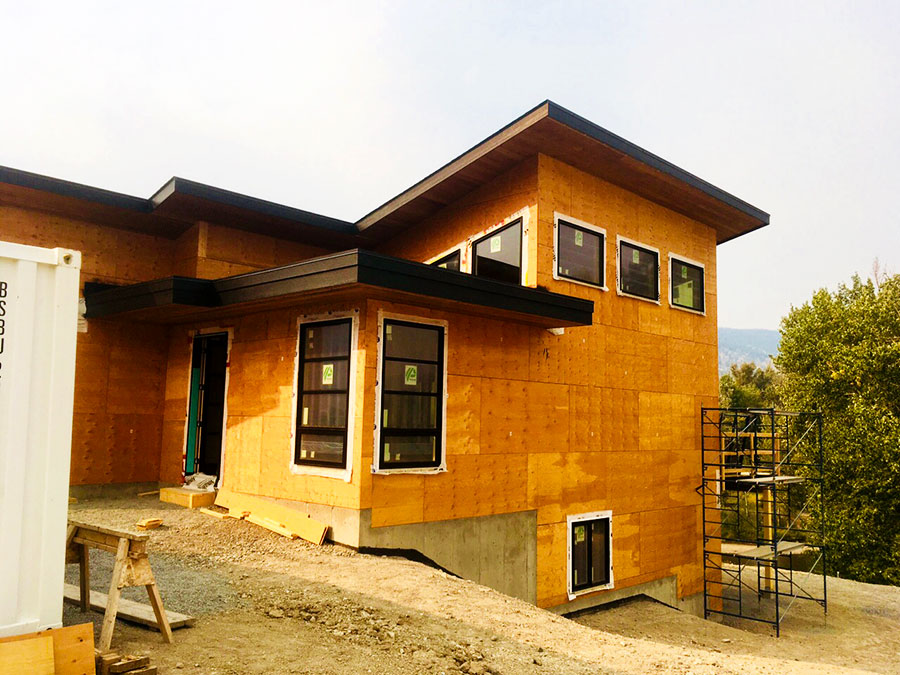 Windows in at the Fir Road project by Mettler Construction in Merritt, BC