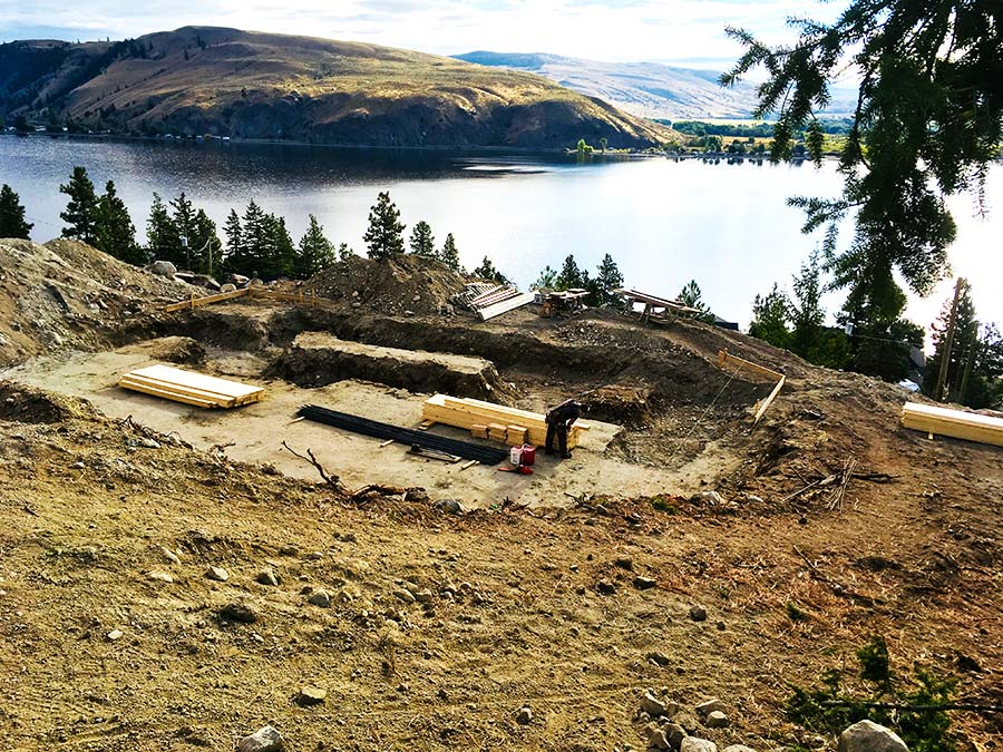 starting on the foundation at Nicola Lakeshore Estates project for Mettler Construction in Merritt, BC