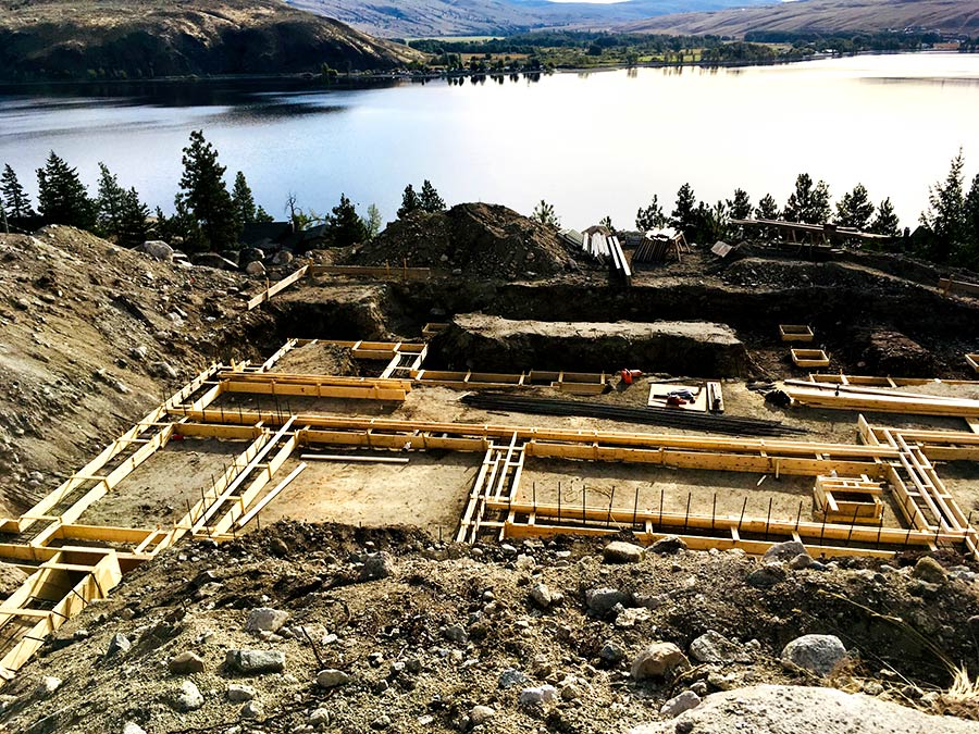 Lake view from the Nicola Lakeshore Estates project by Mettler Construction in Merritt, BC