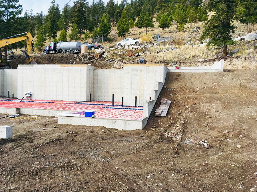 In-floor heating prepped at Nicola Lakeshore Estates project by Mettler Construction in Merritt, BC
