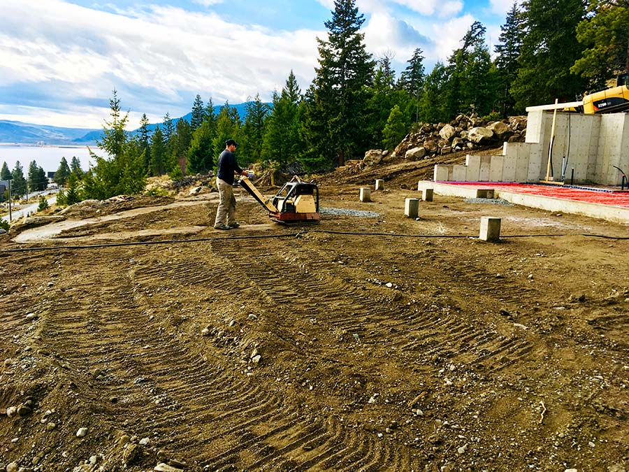 Ground prep work at Nicola Lakeshore Estates project by Mettler Construction in Merritt, BC