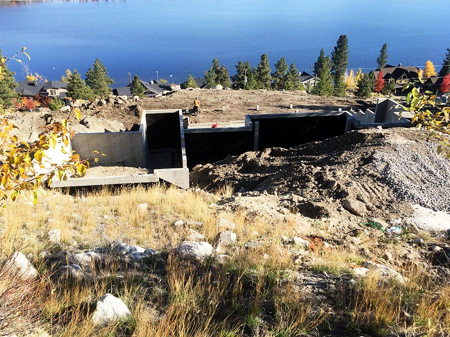 Foundation poured at Nicola Lakeshore Estates project by Mettler Construction in Merritt, BC