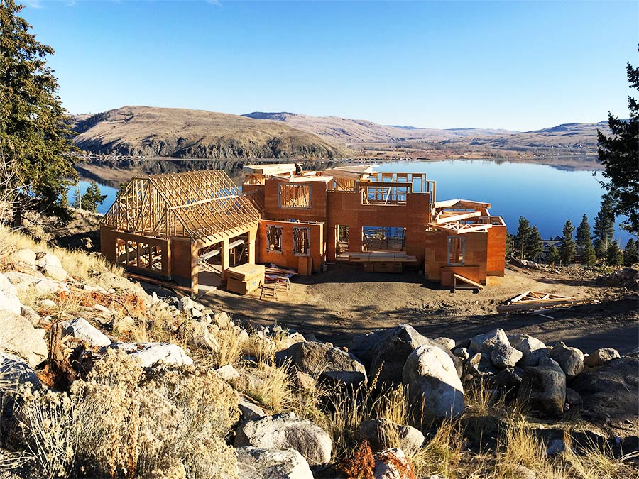 Beautiful view from the Nicola Lakeshore Estates project by Mettler Construction in Merritt BC