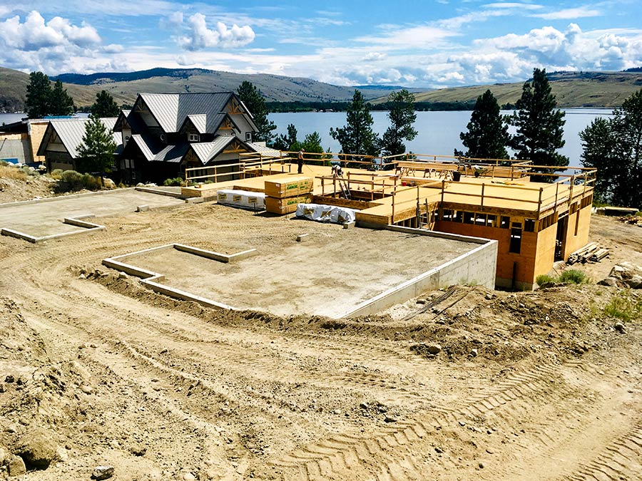 Mettler Construction working on framing for new project at Nicola Lakeshore Estates in Merritt, BC