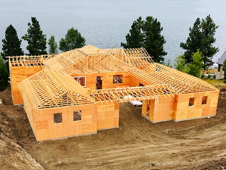 Framing complete at Mettler Construction new project at Nicola Lakeshore Estates in Merritt, BC
